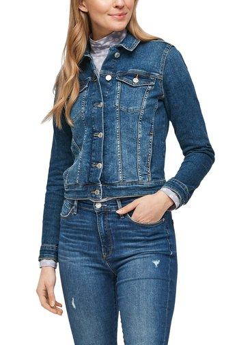 LANGARM - Denim jacket - medium blue