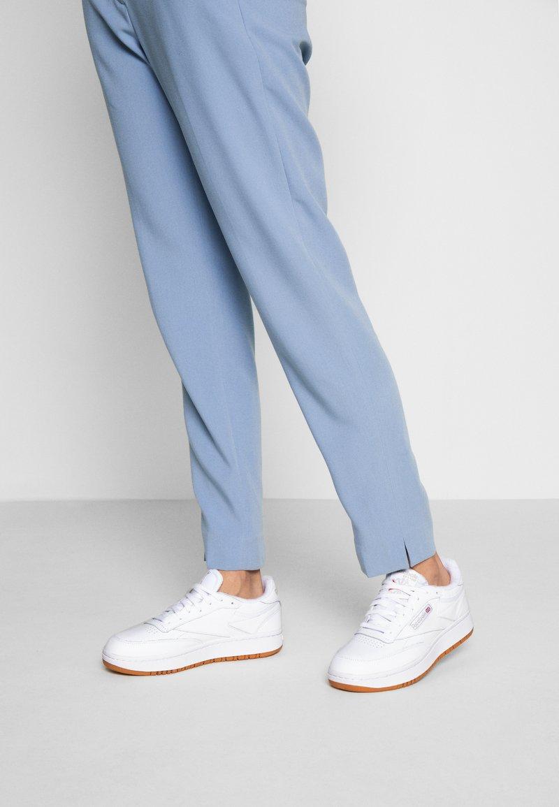 Reebok Classic - CLUB C DOUBLE - Sneakersy niskie - white