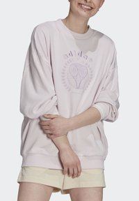 adidas Originals - GRAPHIC SWEATER ORIGINALS PULLOVER - Sweatshirt - pearl amethyst - 0