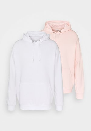 2 PACK UNISEX - Hoodie - white/pink