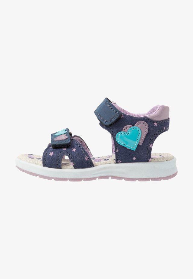 DELIA - Chodecké sandály - navy