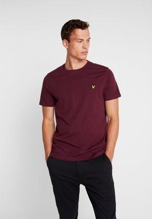 CREW NECK  - Basic T-shirt - burgundy