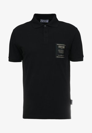 LABEL POLO - Pikeepaita - black
