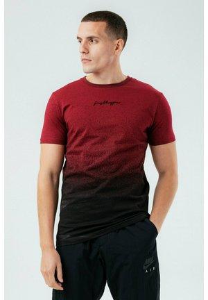 SPECKLE FADE - T-shirt print - burgundy