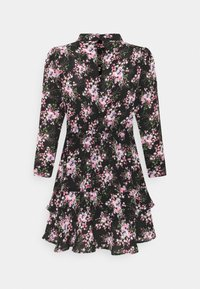 Dorothy Perkins Petite - MINI TIERRED HIGH NECK DRESS - Day dress - pink - 6