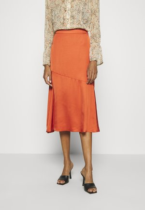 BRENNAKB SOLID SKIRT - A-line skirt - orange rust