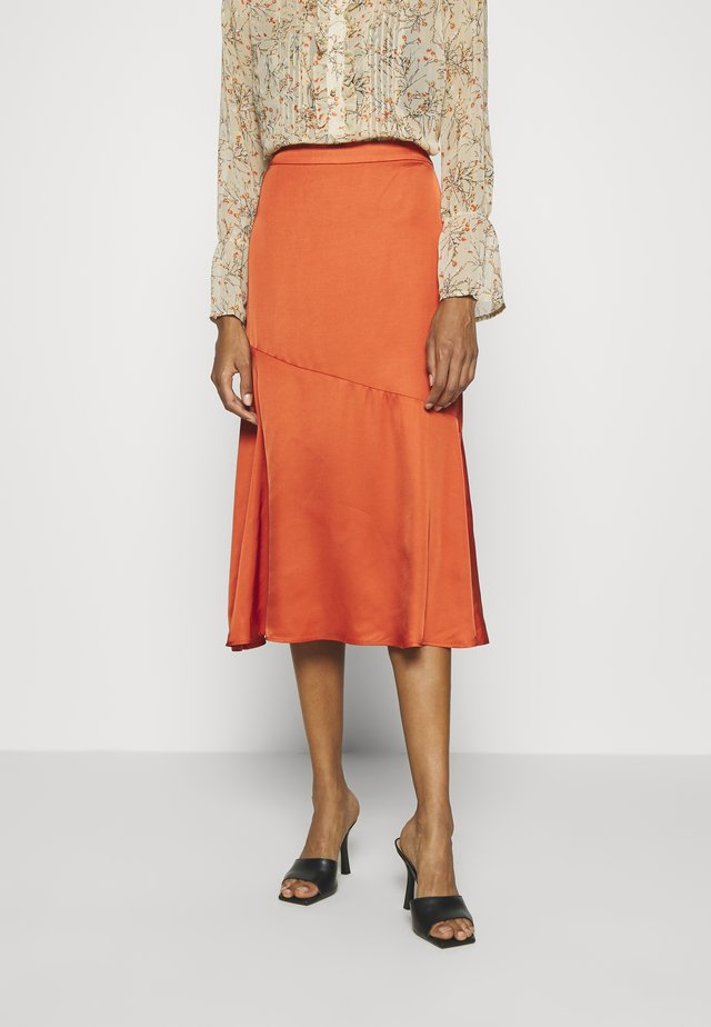 BRENNAKB SOLID SKIRT - Jupe trapèze - orange rust