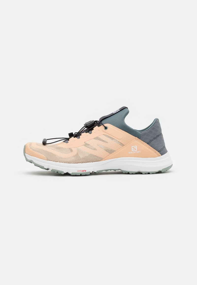Salomon - AMPHIB BOLD 2  - Hiking shoes - almond cream/stormy weather/slate