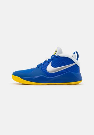TEAM HUSTLE D 9 UNISEX - Basketbalové boty - game royal/metallic silver/photon dust