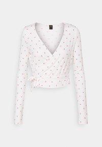 YAS - YASHANNAH CROP TOP  - Long sleeved top - bright white - 0