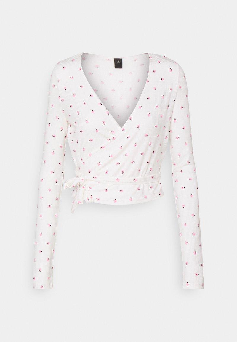 YAS - YASHANNAH CROP TOP  - Long sleeved top - bright white