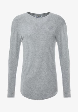 LONG SLEEVE BRUSHED GYM TEE - Strikkegenser - grey