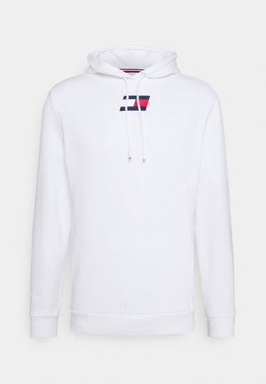 FLAG HOODY - Jersey con capucha - white