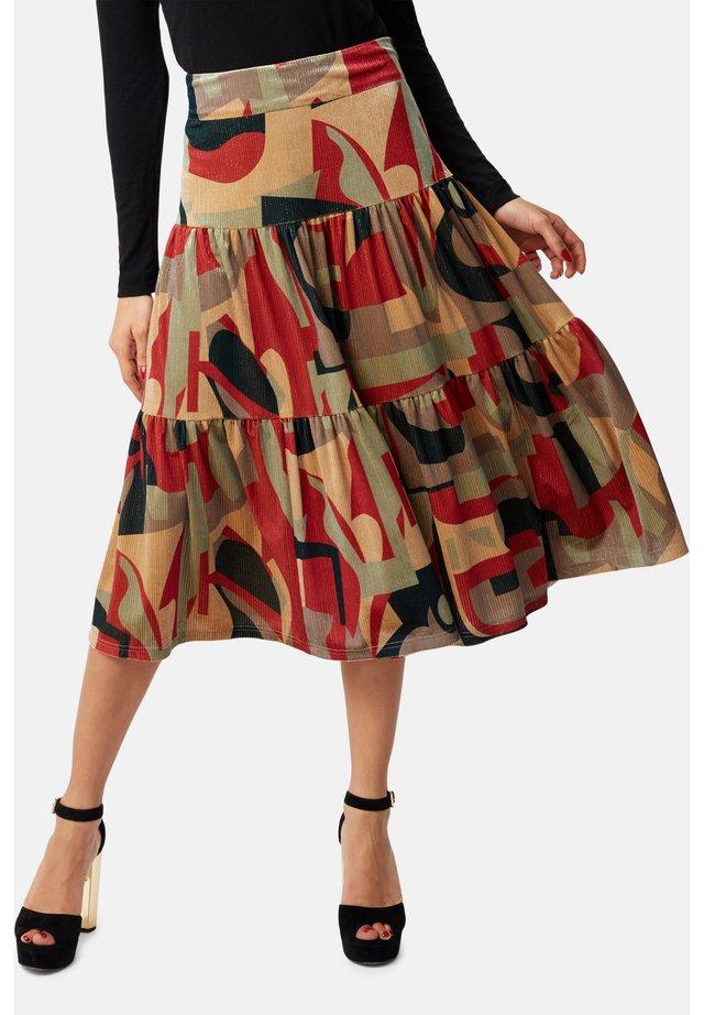 A-line skirt - rust