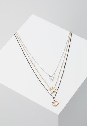 OPEN HEART STUD  - Necklace - black