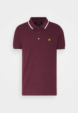 TIPPED  - Polo shirt - burgundy/ white