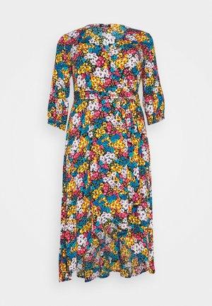 CRINKLE WRAP DRESS - Denní šaty - black