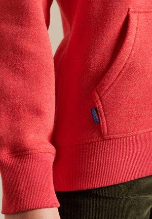 VINTAGE LOGO EMBROIDERED  - Zip-up sweatshirt - papaya marl