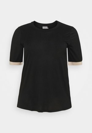 Print T-shirt - black deep