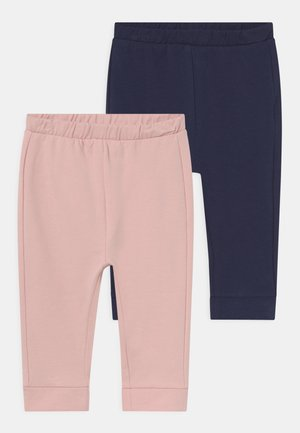 SOLID 2 PACK - Trousers - lotus/insignia blue