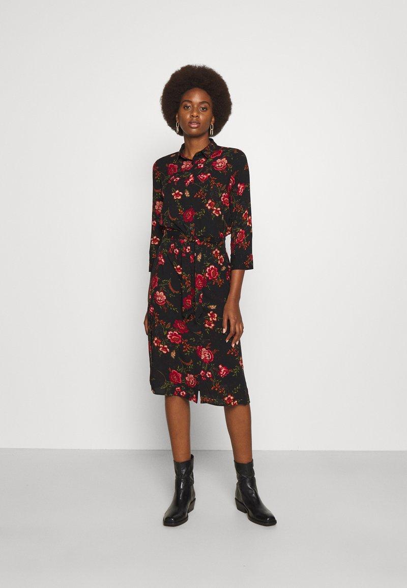 ONLY Tall - ONLNOVA LONG SHIRT DRESS - Košilové šaty - black