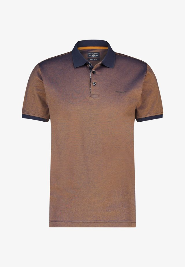 Poloshirt - brown /blue