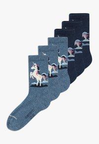 camano - ONLINE CHILDREN FASHION 6 PACK - Ponožky - blue - 0