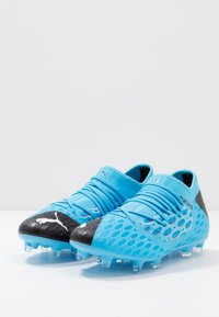 Puma - FUTURE 5.3 NETFIT FG/AG - Moulded stud football boots - luminous blue/nrgy blue/black/pink alert - 2