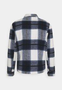 Casual Friday - JUSTAN CHECKED OVERSHIRT JACKET - Summer jacket - navy blazer - 1