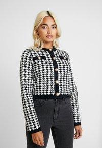 Fashion Union Petite - HIBISCUS - Cardigan - black/cream - 0
