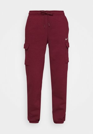 CARGO PANT LOOSE - Pantalon de survêtement - dark beetroot