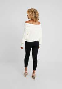 Missguided Petite - BARDOT CABLE CROP JUMPER - Pullover - cream