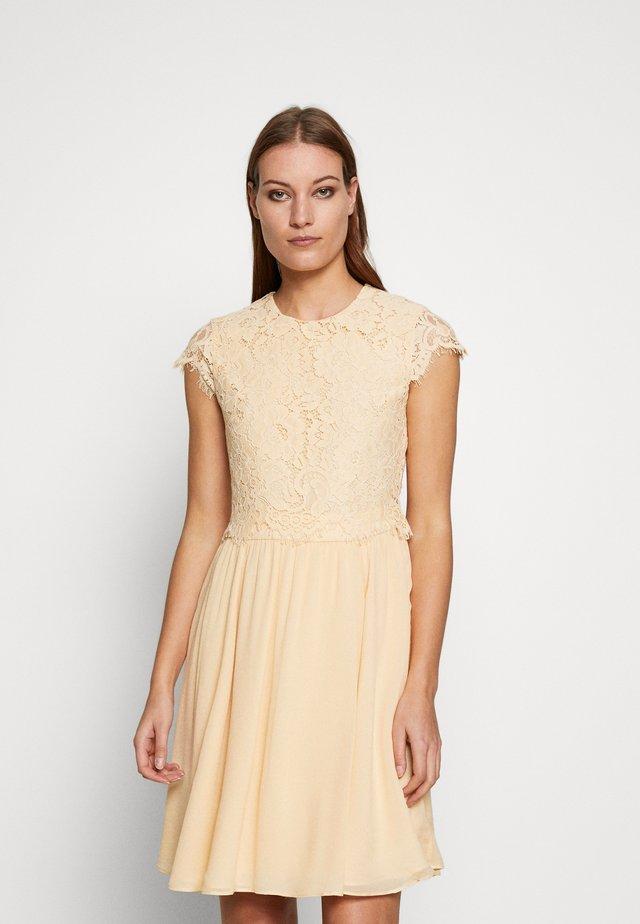DRESS 2IN1 MINI - Juhlamekko - lemon cream