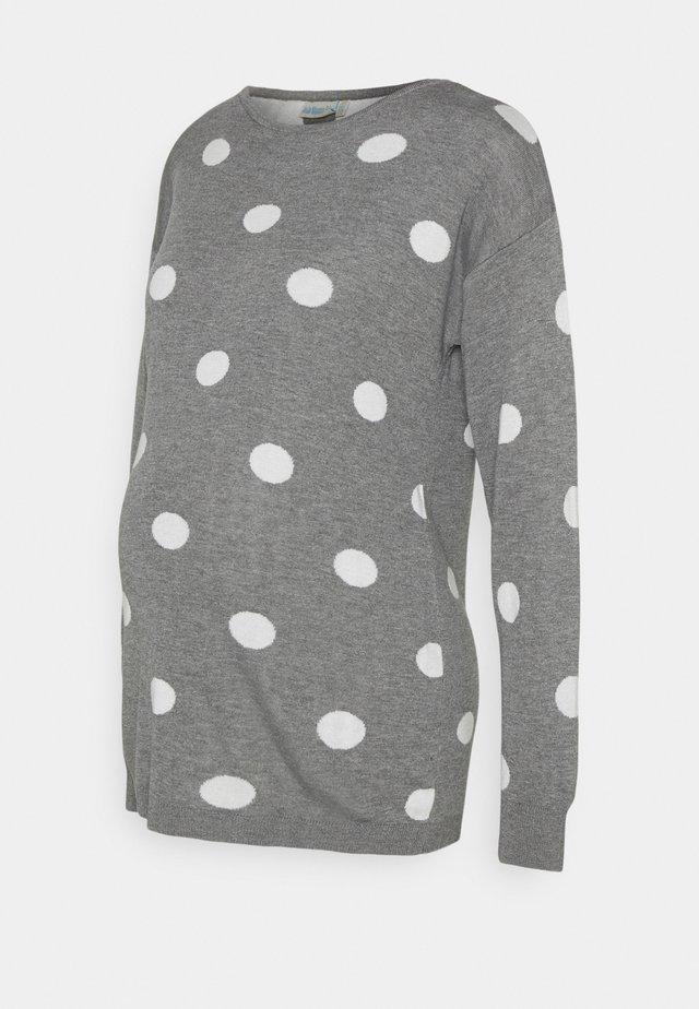 SPOT CREW NECK  - Jersey de punto - marl grey