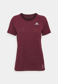 ADI RUNNER SUPERNOVA AEROREADY - Print T-shirt - victory crimson