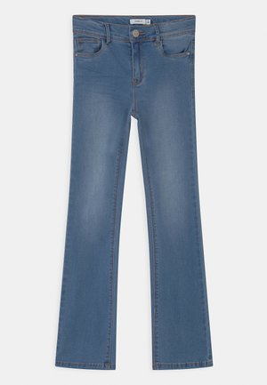 NKFPOLLY - Bootcut jeans - medium blue denim
