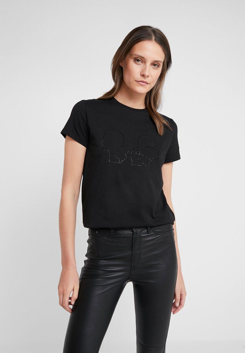 KARL LAGERFELD - KARL X OLIVIA PROFILE TEE - Print T-shirt - black