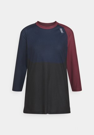 PURE 3/4 - Long sleeved top - propylene red/turmaline navy/uranium black