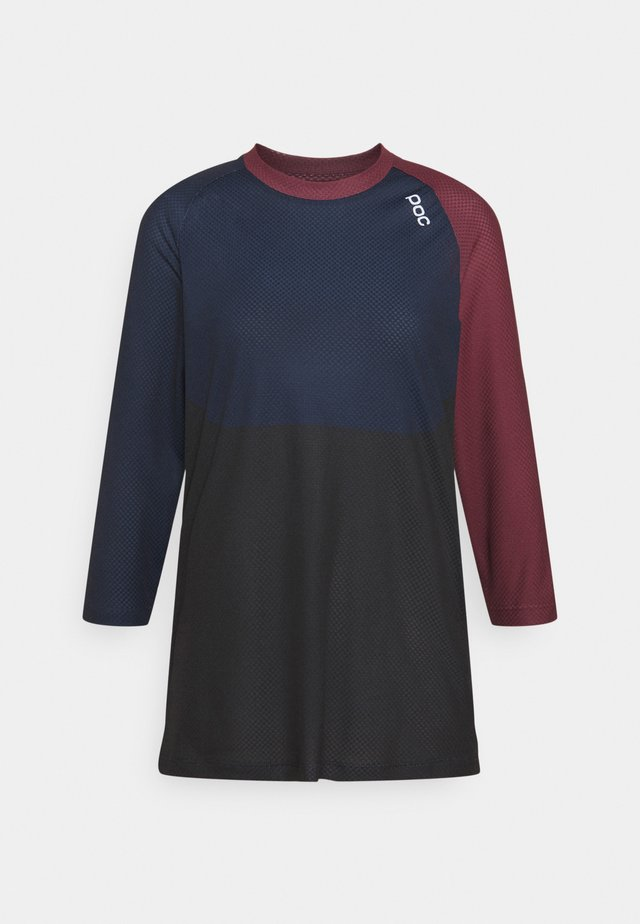 PURE 3/4 - T-shirt à manches longues - propylene red/turmaline navy/uranium black