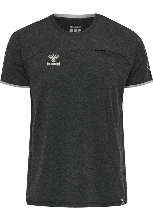 HMLCIMA  - T-shirt z nadrukiem - black melange