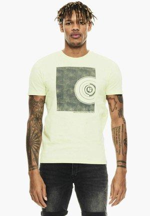Print T-shirt - neon lime