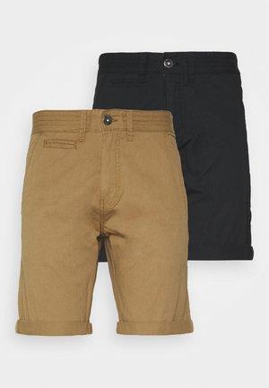 EXCLUSIVE STELLAN 2 PACK - Shorts - black / amber