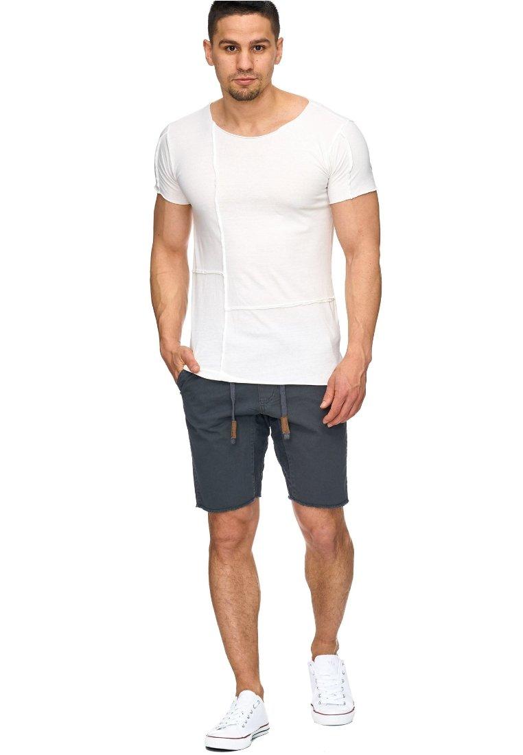 INDICODE JEANS - CARVER - Denim shorts - anthrazit