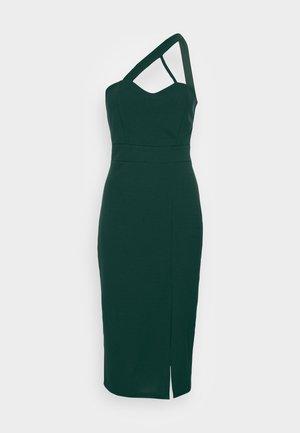 SAVANAH HALTER NECK MIDI DRESS - Jersey dress - forest green