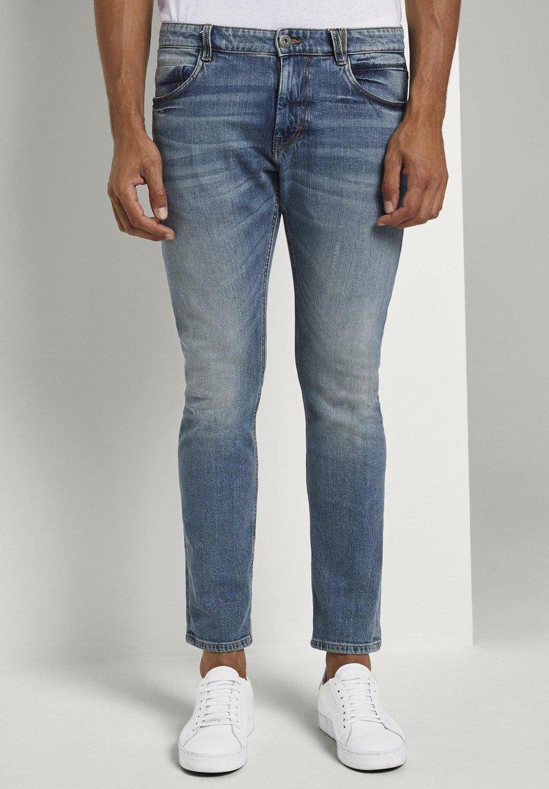 TOM TAILOR - Slim fit jeans - mid stone bright blue denim