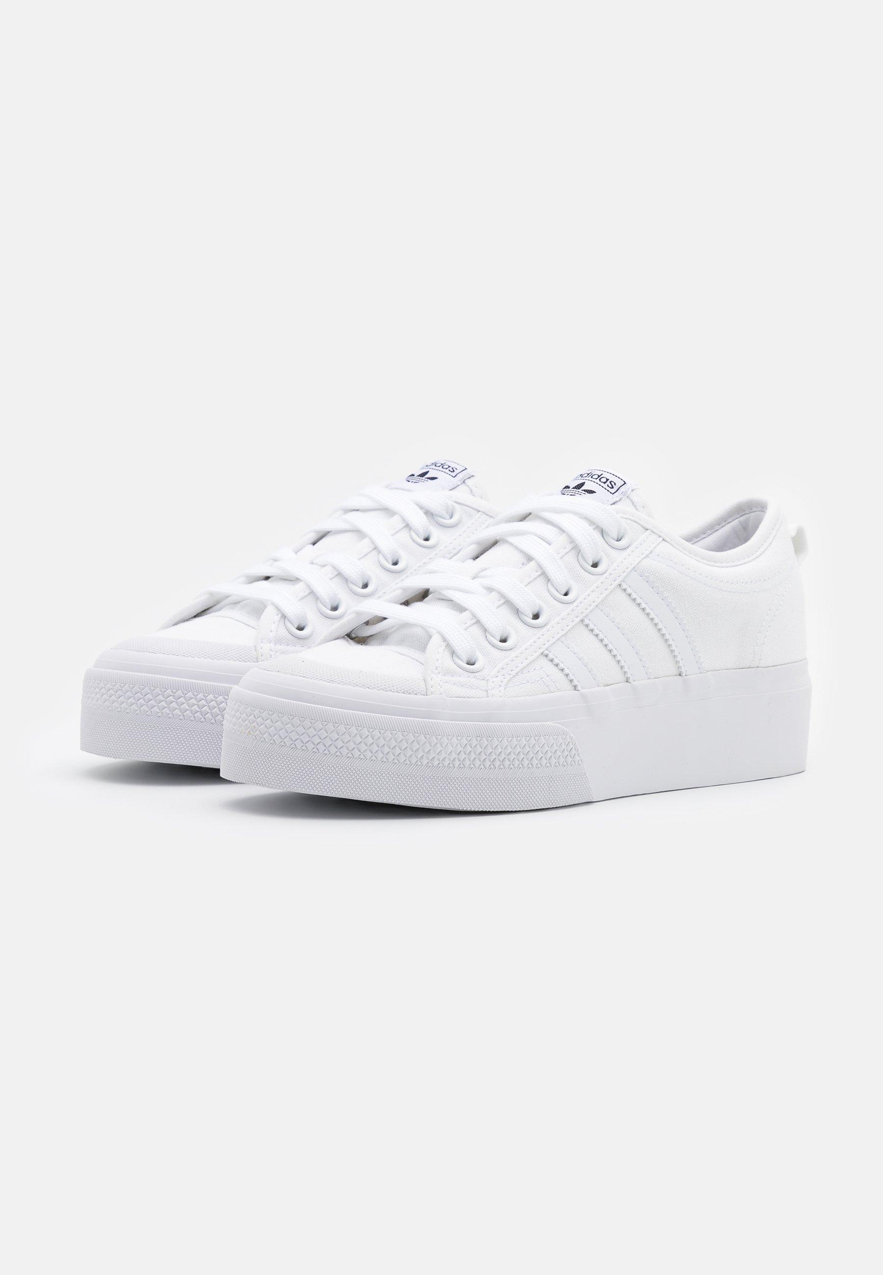 NIZZA PLATFORM - Baskets basses - footwear white