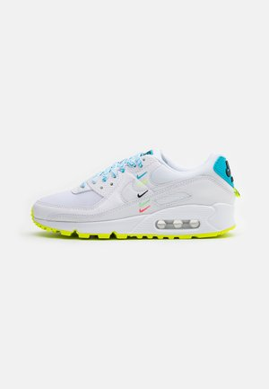 AIR MAX 90 - Trainers - white/blue fury/volt/black
