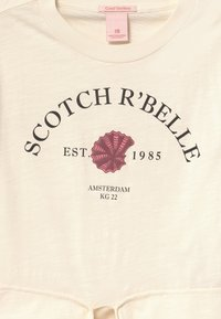 Scotch & Soda - SHORT SLEEVE WITH FRONT TIE - Print T-shirt - off white - 2