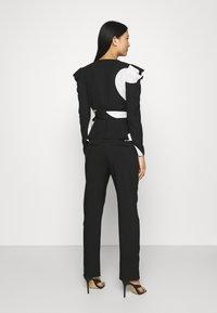 Who What Wear - WRAP  - Blouse - black/white - 2