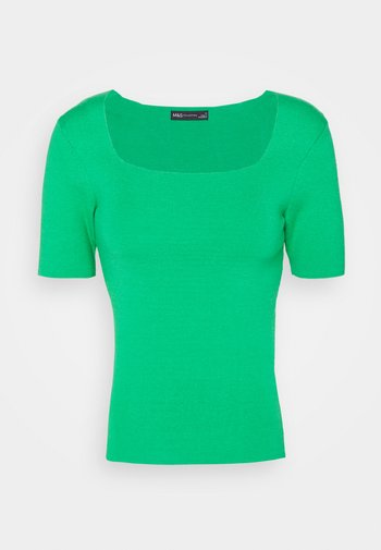SQUARE NECK - Basic T-shirt - green